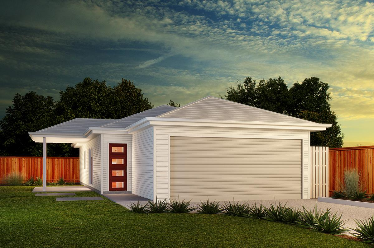 Typical AUS town houses exterior rendering