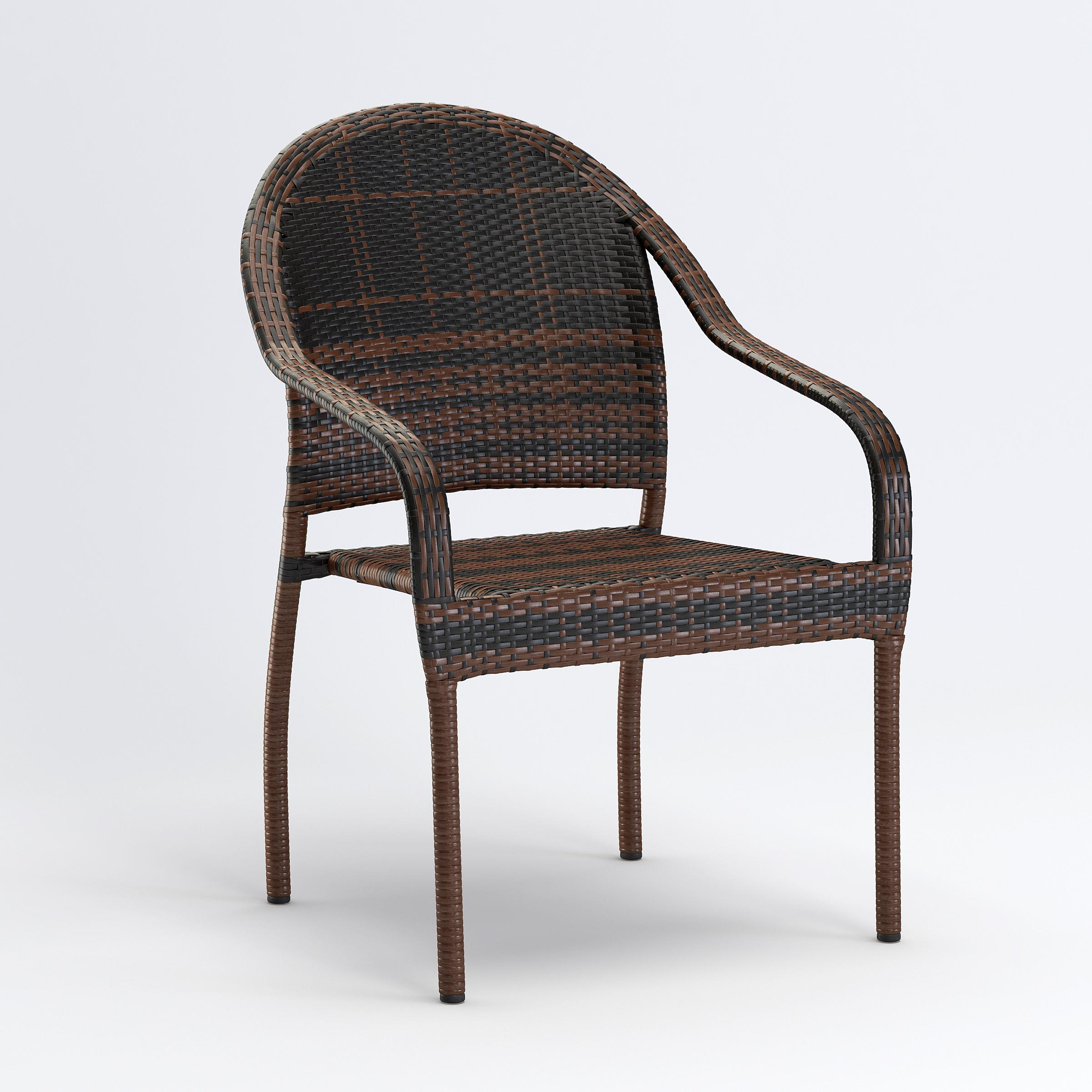 3D rendering of wicker furniture products
